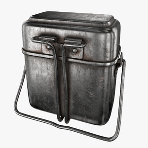3D old lunch box model