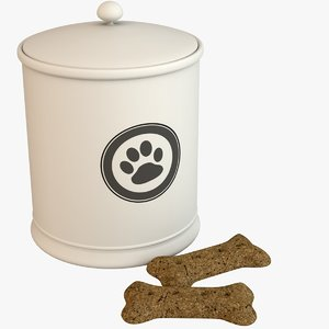 dog biscuit jar 3D