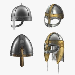 viking helmets 3D model