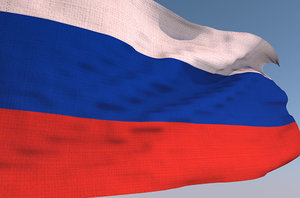 3D russia waving flag animation model