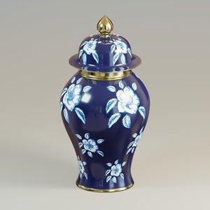 3D jar floral
