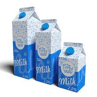 3D Milk Carton Box model