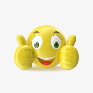 3D model emoji mobile modeled