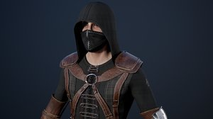 character assassin secretive 3D model
