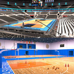 basketball 2 arena gym 3D