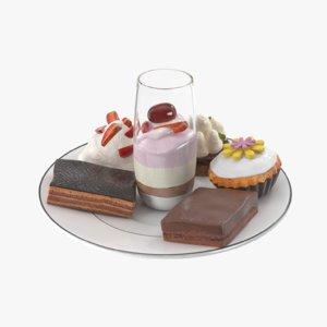 set cake 3D model