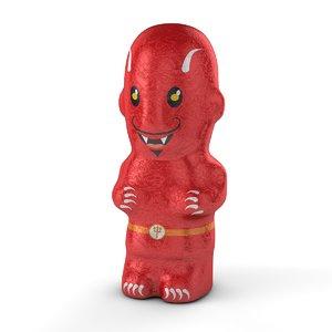 foil chocolate devil model