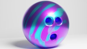 bowling ball evolution 3D model