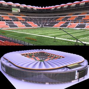 3D football stadium ball model