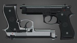 3D black silver version
