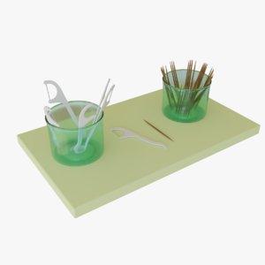 3D toothpick floss