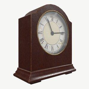 3D clock table vintage