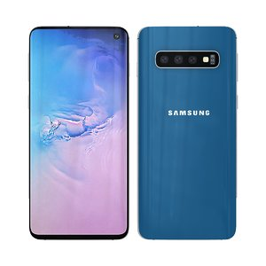 3D samsung s10 blue model