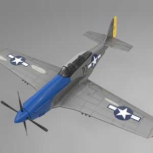 pzw north american p-51 mustang 3D model