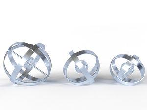 3D aluminum rings