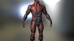 scifi suit 3D model