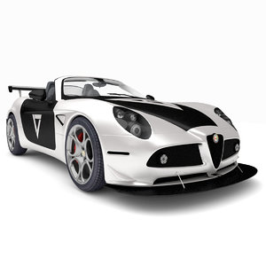 rigged alfa romeo 8c 3D model