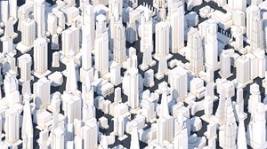 3D 51 city buildings model
