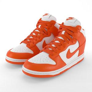 3D model nike dunk shoes pbr