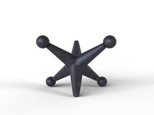 3D tank trap decoration model