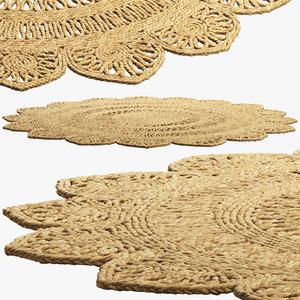 safavieh riccarda rug carpet 3D model
