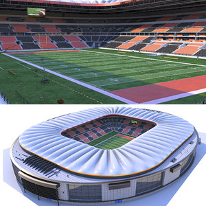 football stadium ball 3D model