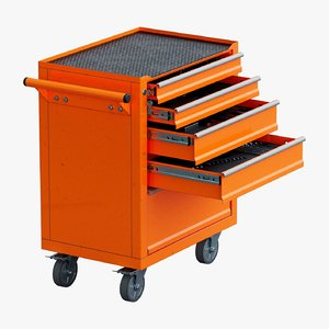 3D model toolbox trolley