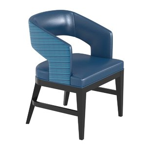 dining arm chair blue 3D