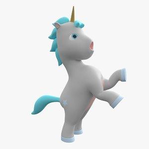 cartoon mighty unicorn model