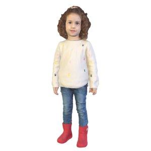 cute girl standing 3D