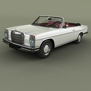 1969 mercedes-benz w114 convertible 3D