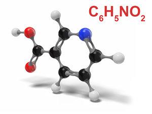 niacin c6h5no2 modeled 3D model
