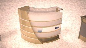 3D service airports reception desks model