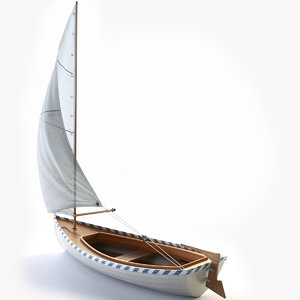 3D sailing boat