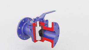 3D valve plug model