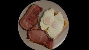 bacon eggs 3D model