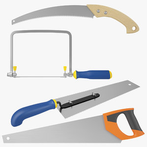 saws set 3D model