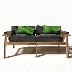 origamebel sofa furniture 3D model