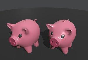 pig money box 3D model
