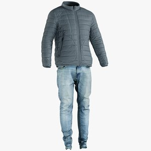 3D realistic men s jacket model