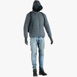 realistic men s jacket 3D model