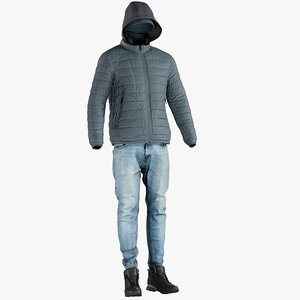 3D realistic men s jacket