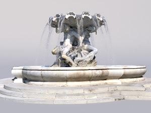 triton fountain 3D model