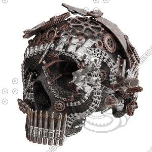 3D skull figurine