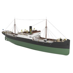 generic steam ship model