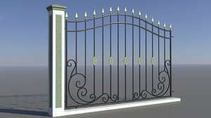 forged fence 3D model