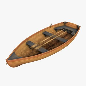 3D realistic boat 01 model
