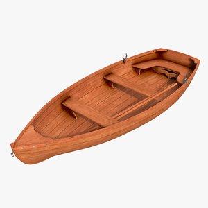 3D realistic boat 01 c model