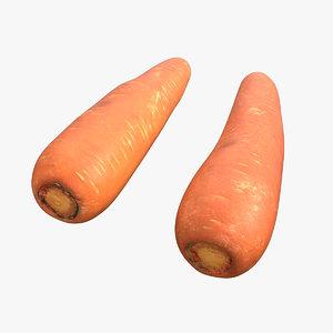 3D carrot scan model