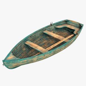 realistic boat 01 d 3D model